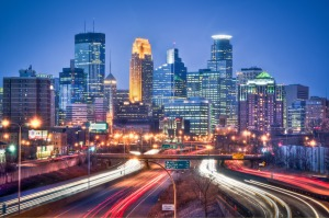 Downtown Minneapolis is located just steps from the Mississippi River.